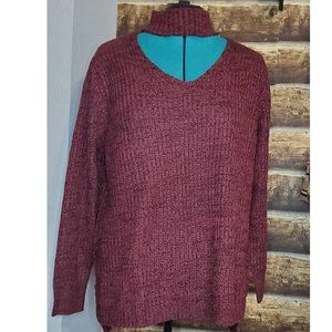Planet Gold Trendy Cut Out Pullover Sweater 3X
